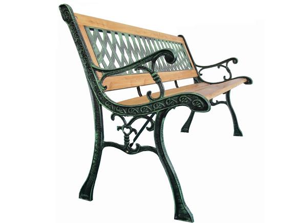 Panchina in legno e ghisa da giardino panca arredamento for Panchine da giardino ikea