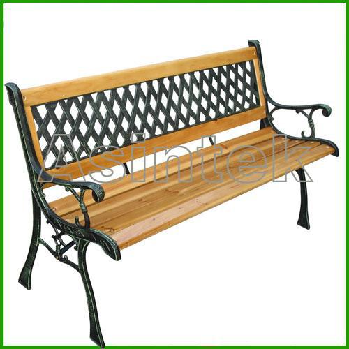Asintek panchina da giardino in legno e ghisa lavorata - Panchine da esterno in ferro ...