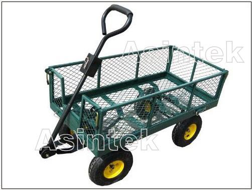 Carrello in ferro con 4 ruote carretto legna giardino for Ferro usato al kg