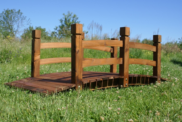 Ponte in legno da giardino per esterni decorazione arredamento passerella fiume  eBay