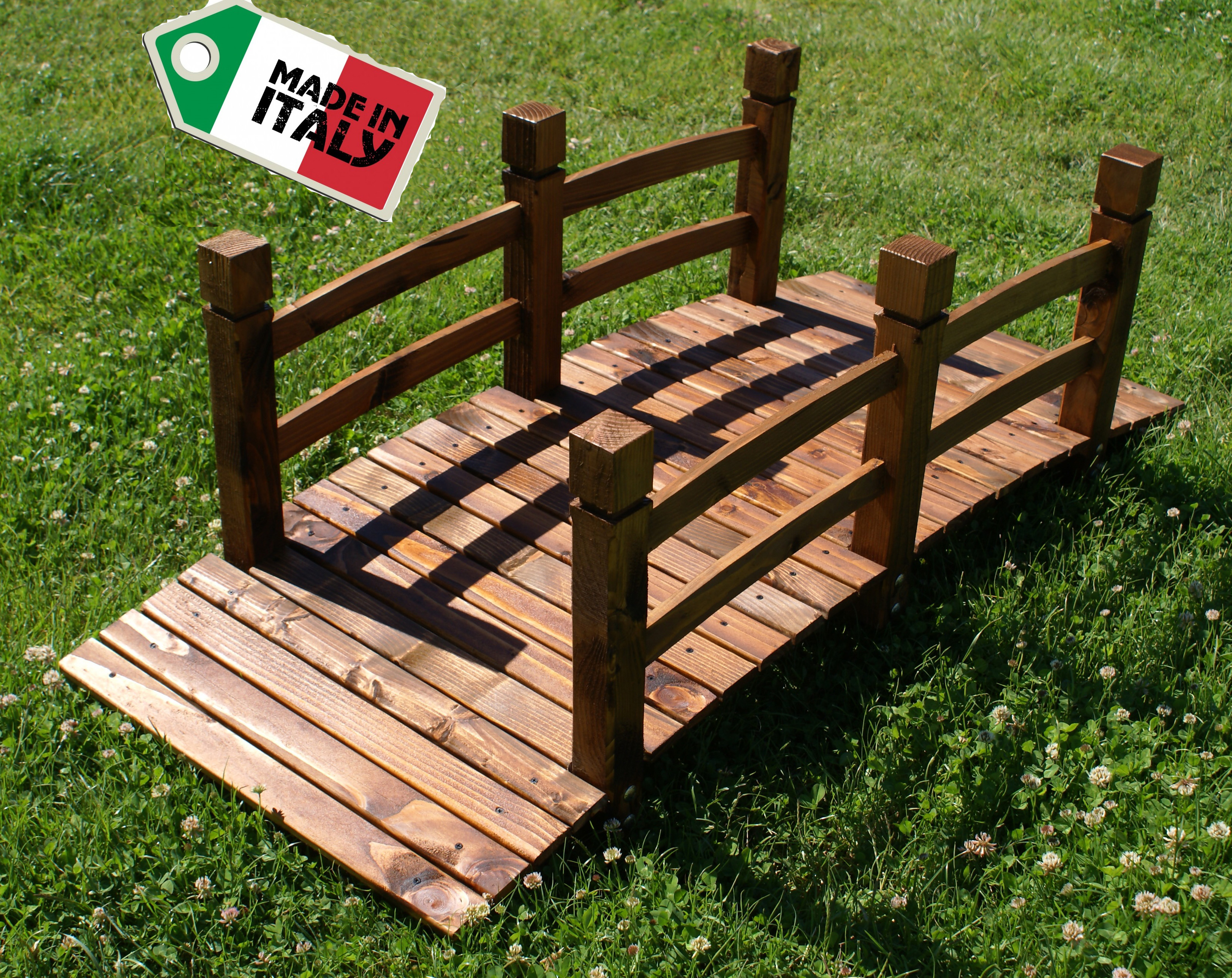 Asintek ponte decorativo da giardino in legno massello - Oggetti per giardino ...