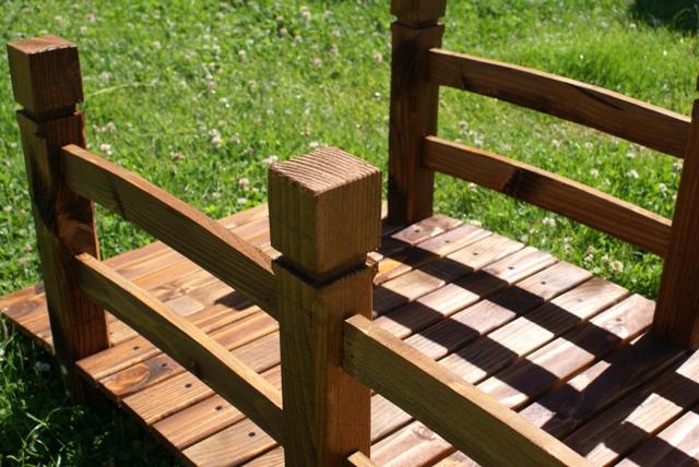 Asintek ponte decorativo da giardino in legno massello for Giardino rustico traliccio decorativo