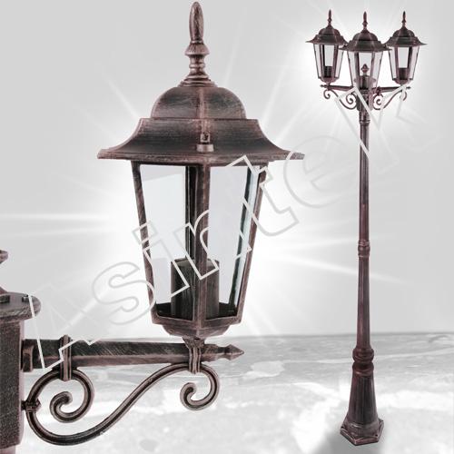 Asintek: Lampione da giardino con 3 lanterne