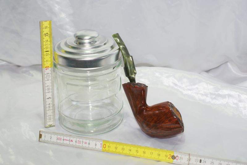 Porta tabacco in vetro per pipe portatabacco da tavolo - Vaso porta tabacco ...