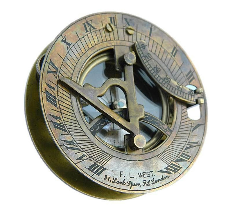 Orologio Con Pannello Solare : Meridiana bussola solare orologio antico nautico accademia