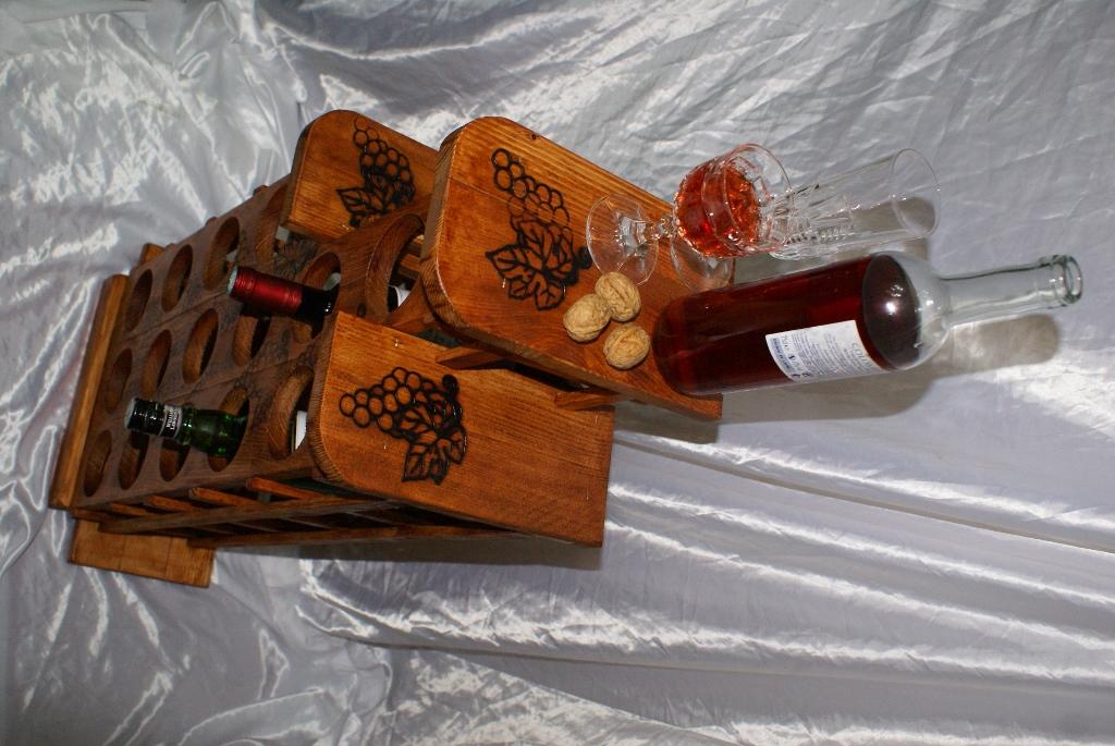 Cantinetta portabottiglie da vino cantina legno porta 15 bottiglie per scaffale ebay - Porta bottiglie ...