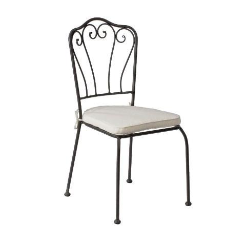Asintek sedia karola in ferro con decorazioni giardino for Decorazioni in ferro per giardino