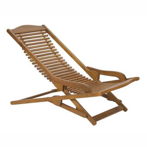 Sdraio in legno sedia arredo giardino bordo piscina doghe for Sdraio bordo piscina