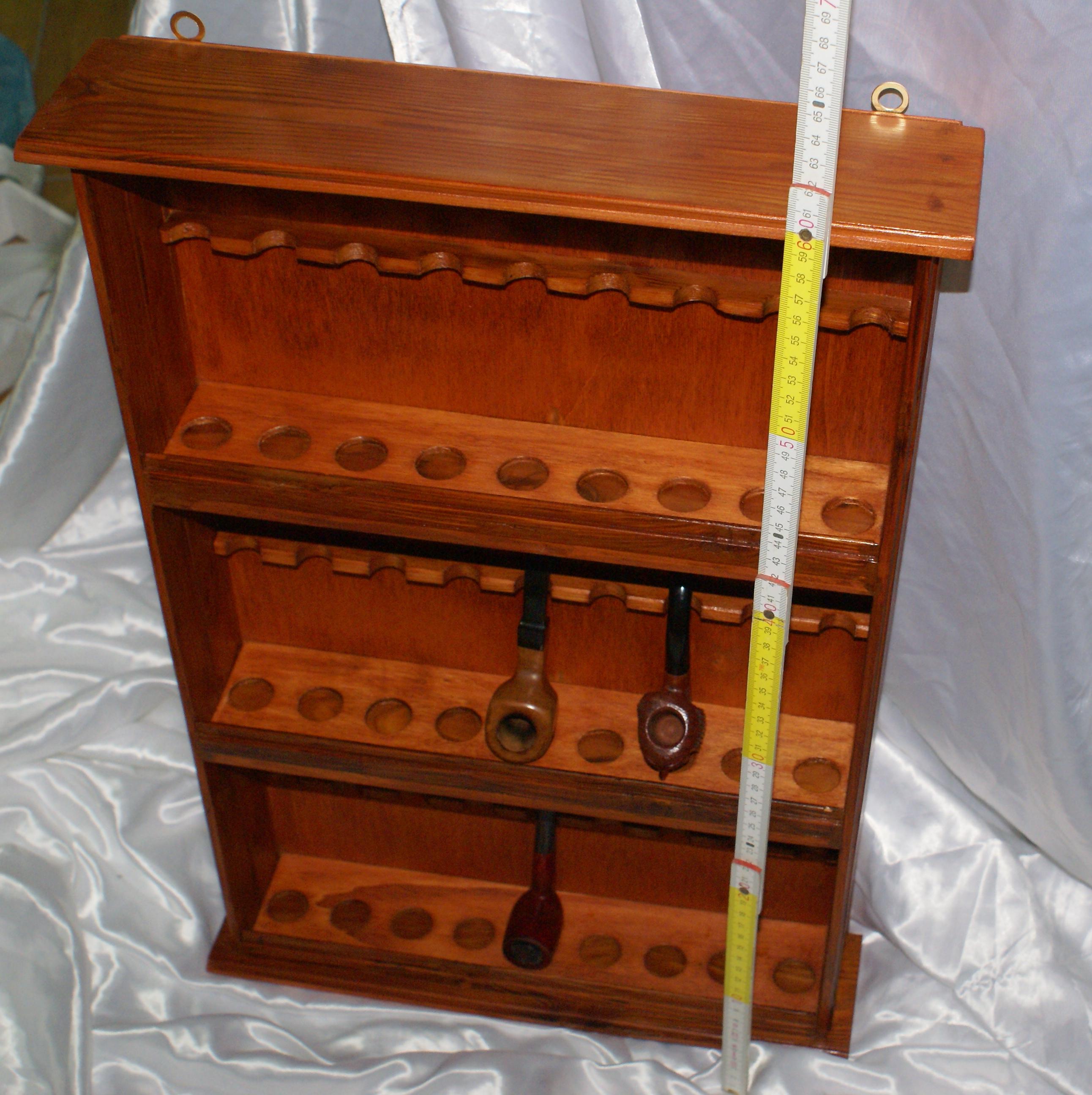Porta pipe da parete in legno massello espositore for Rastrelliera per fucili fai da te