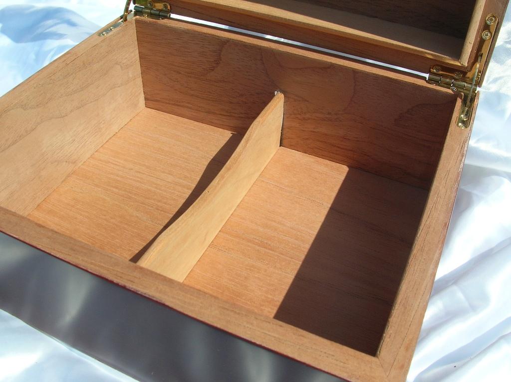 Asintek: Box portasigari in legno di cedro spagnolo + tagliasigari ...